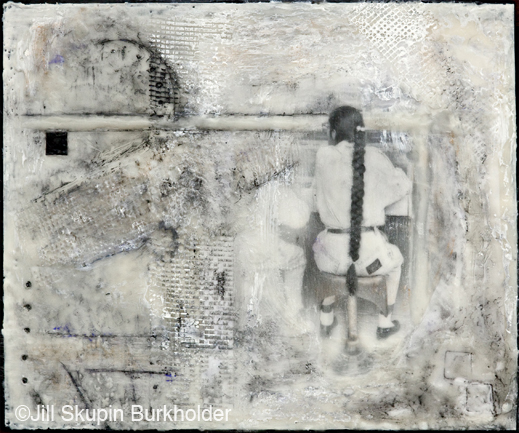 Encaustic photographic print by Jill Skupin Burkholder, at Sun to Moon Gallery