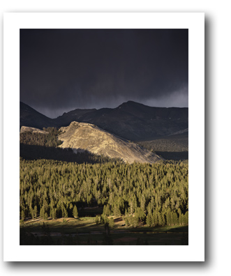 """Storm Light, Lembert Dome"" photo by Scot Miller, at Sun to Moon Gallery"