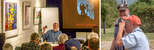 Elevating Your Photographic Vision with Alan Ross, Ansel Adams' photographic assistant, a  hands-on, creative workshop for all photographers, at Sun to Moon Gallery, Dallas, TX