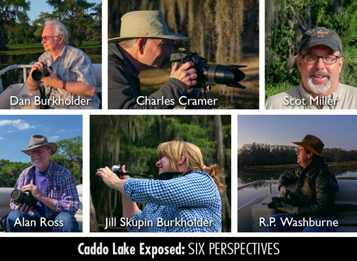 Caddo Lake Exposed: SIX PERSPECTIVES photography exhibition at Sun to Moon Gallery, benefiting Caddo Lake Institute