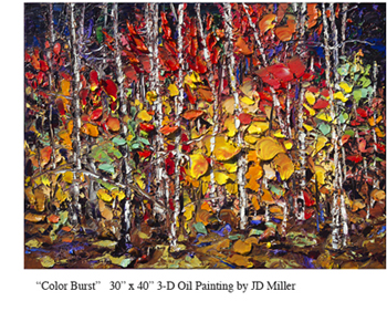 One-of-a-kind Maine Woods 3-D Oil Painting by JD MIller, at Sun to Moon Gallery