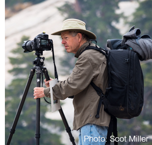Photograph of Charles Cramer in the wilderness, by Scot Miller