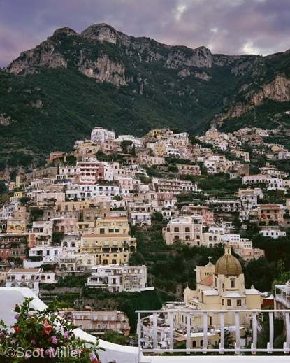 Positano, Italy fine print by Scot Miller, at Sun to Moon Gallery