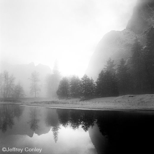 Yosemite gelatin silver print by Jeffrey Conley, at Sun to Moon Gallery, Dallas, TX