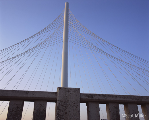 Photograph of the Margaret Hunt Hill Bridge, Dallas, TX by Scot Miller, fine prints available at Sun to Moon Gallery
