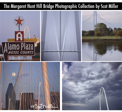 The Margaret Hunt Hill Briddge Photogaphic Collection by Scot Miller, at Sun to Moon Gallery, Dallas, TX
