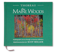 """Thoreau, The Maine Woods"" book cover, by Scot Miller"