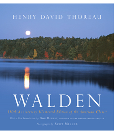 New edition of WALDEN: 150th Anniversary Illustrated Edition, photographs by Scot Miller