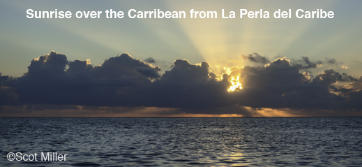 Sunrise over the Caribbean at La Perla del Caribe in Belize
